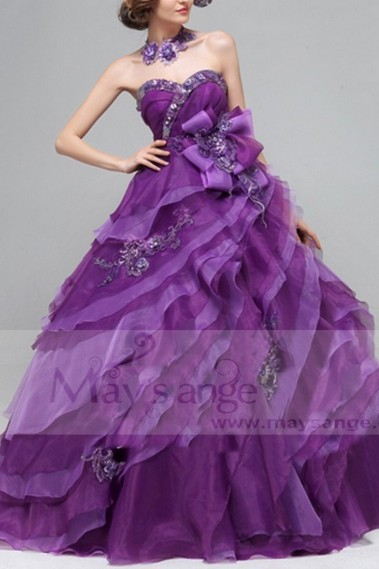 Princess Evening Dress - P078 - P078 #1