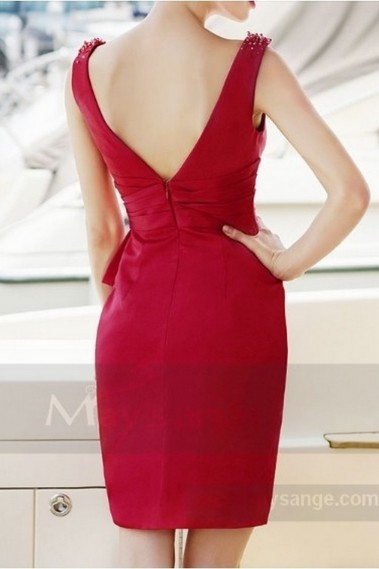 Red evening dress - Robe de cocktail  C762 - C762 #1