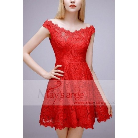 robe sexy  rouge feu - Ref C764 - 02