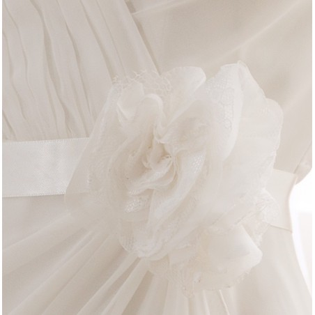 robe blanche simple pour mariage - Ref L738 - 05