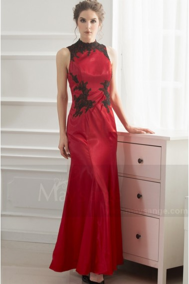 Red evening dress - L741 - L741 #1