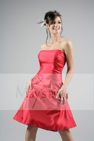 Red evening dress - Dress rouge - C102 #1