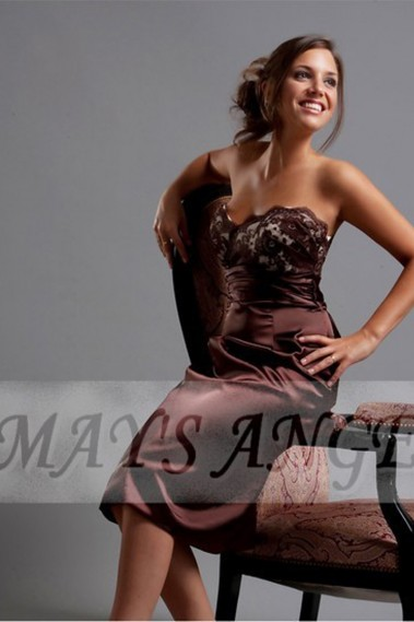 Cheap Dresses for Wedding - Party dress - Sexy lace chocolate C104 - C104 #1