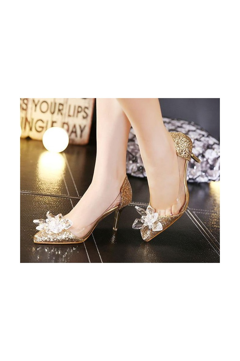 chaussures femme CH077 d'or - Ref CH077 - 01