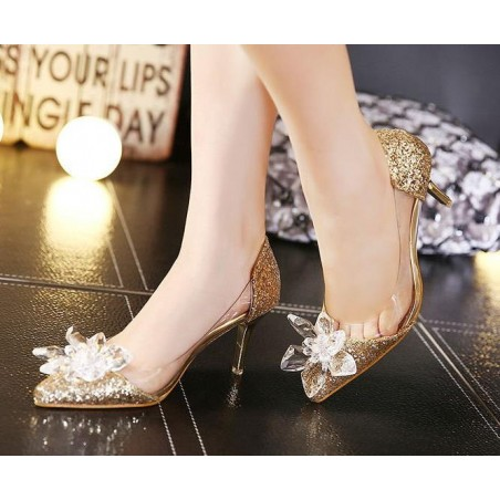 chaussures femme CH077 d'or - Ref CH077 - 02