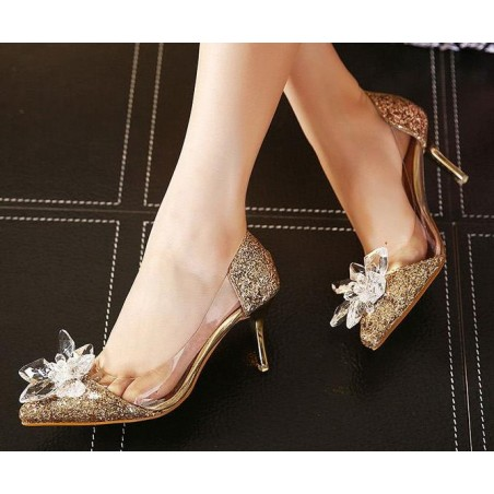 chaussures femme CH077 d'or - Ref CH077 - 03