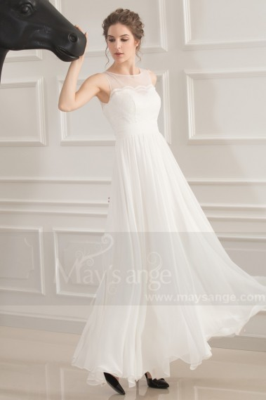 SPLENDID LONG WHITE DRESS FOR BAPTISM - L752 #1