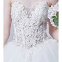 Gorgeous Strapless Ball Gown Tulle Appliques Wedding Dress - Ref M364 - 04