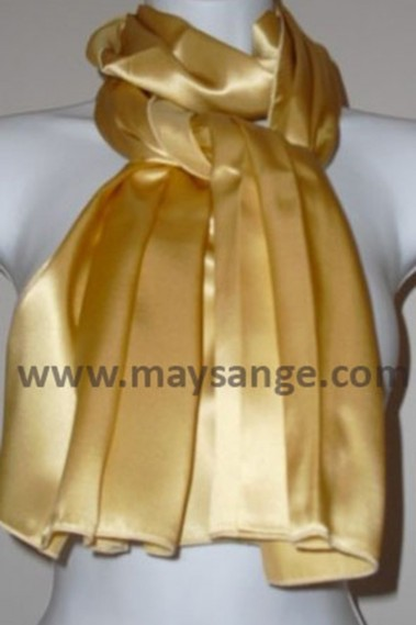Pretty evening shawl gold thin satin - ETOLE02 #1