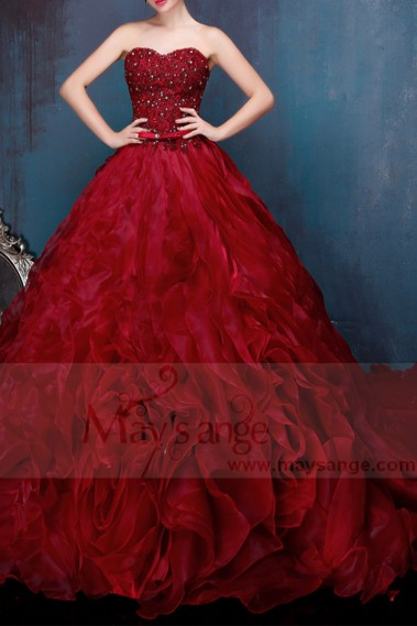 Red evening dress - P088 - P088 #1