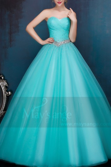 Strapless Evening Dress - P089 - P089 #1