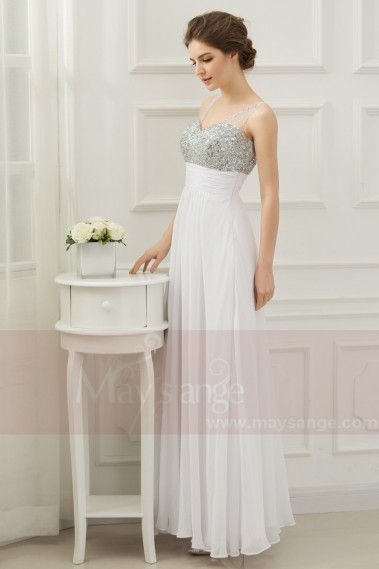 Evening Dress with straps - LONG SUMMER DRESS WITH GLITTER TOP - L508 #1
