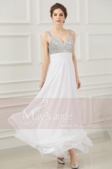 Prom and evening dresses White Courtney - L208 #1