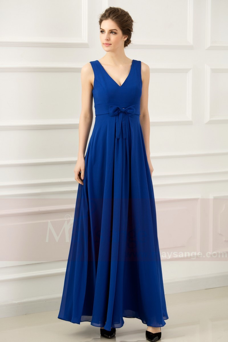 Robe de soir e bleu roi empire l762 for Robes de mariage empire uk