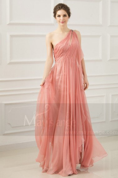 Evening Dress with straps - Greek evening dress old pink L765 - L765 #1