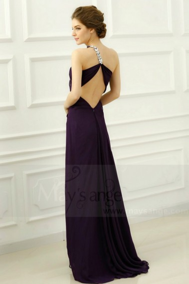 Fluid Evening Dress - Beauty Sexy Cocktail Dress One Glittering Strap - L014 #1