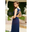 Prom dress blue pretty naked butterfly wings - Ref L774 - 03