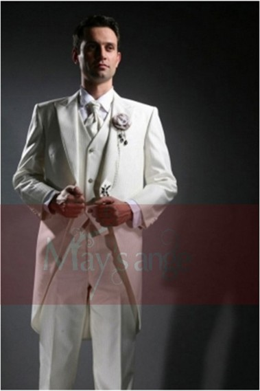 White Groom Suit - MEN022 #1