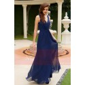 Prom dress blue pretty naked butterfly wings - Ref L774 - 04