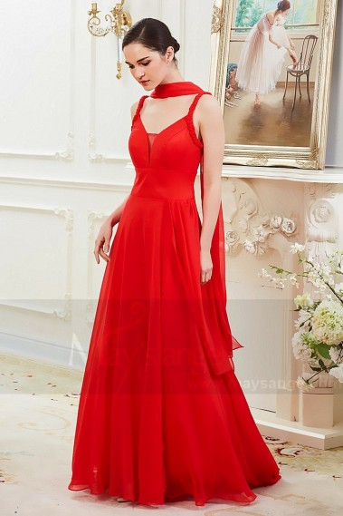 Red evening dress - Robe de soiree Imperatrice Rouge Feu - L788 #1
