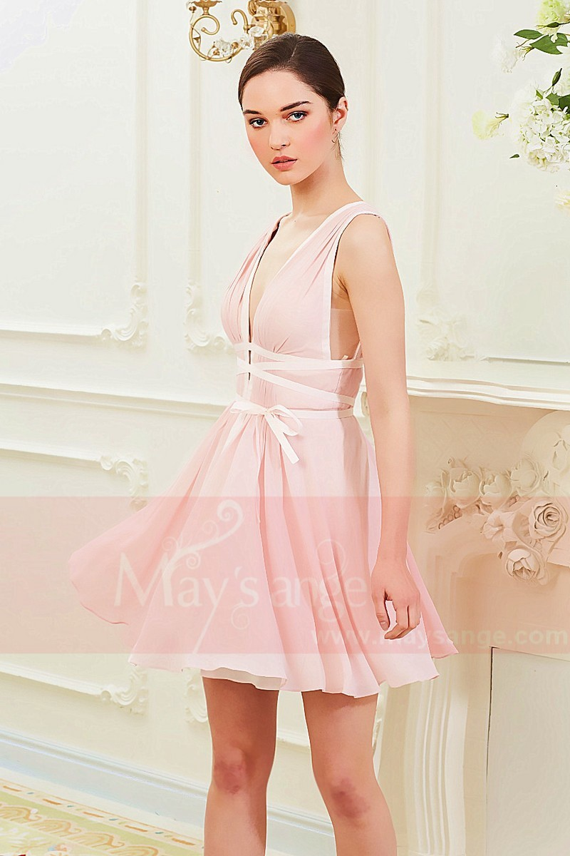 Short Pink Cocktail Dress As A Candy