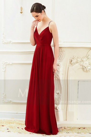 Evening Dress with straps - Beautiful Raspberry Formal Evening Gowns With An Open Back - L794 #1