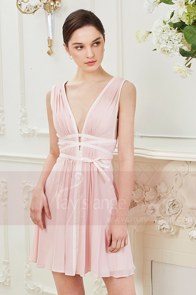 SEXY COCKTAIL DRESS DEEP V NECKLINE - Ref C846 - 01