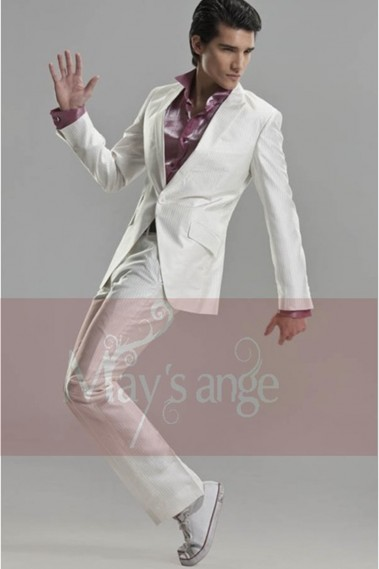 One white button Suit - MEN033 #1