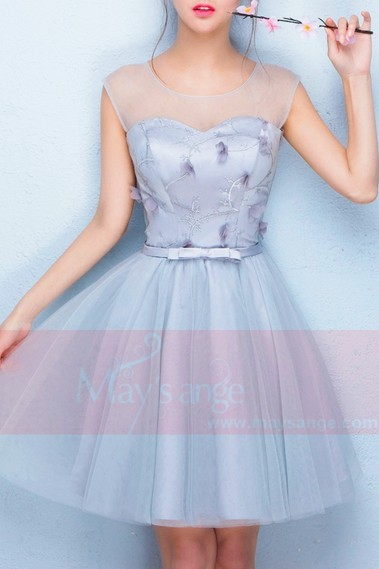 Tulle Short Bridesmaid Dress - C854 #1