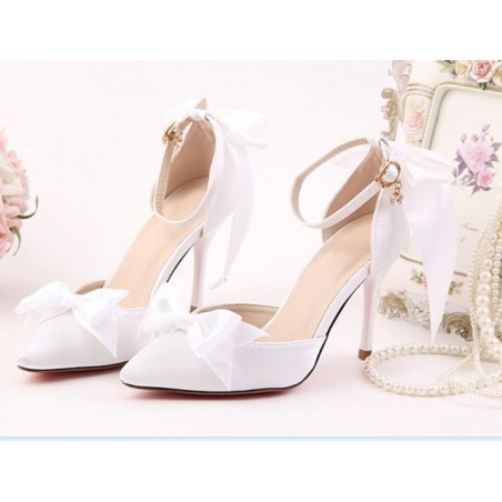 chaussures pas cher CH081 blanc - Ref CH081 - 02