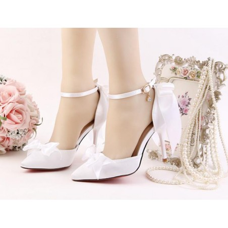 chaussures pas cher CH081 blanc - Ref CH081 - 03