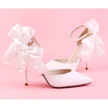 chaussures pas cher CH084 blanc - Ref CH084 - 02