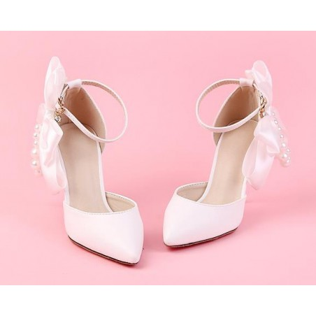 chaussures pas cher CH084 blanc - Ref CH084 - 04