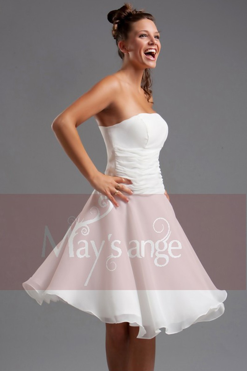 Short White Homecoming Dress - Ref C117 - 01