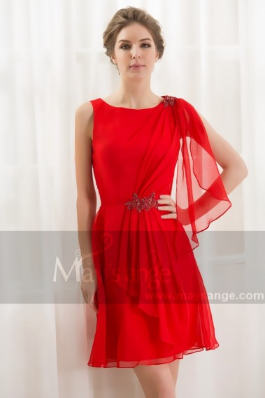 Fluid cocktail dress - red fire dress maysange C795 - C795 #1