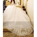 Gorgeous Organza Wedding Dress With Strap - Ref M379 - 03