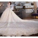 Tulle Champagne Bridal Gown With Long Train - Ref M375 - 03
