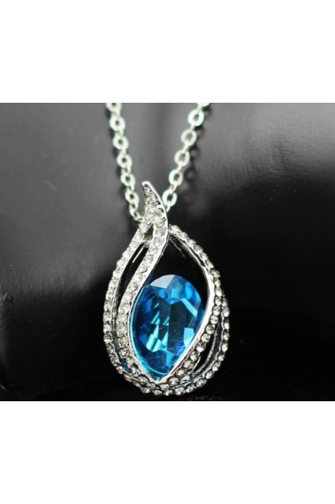 Beautiful blue stone pendant necklace - F024 #1