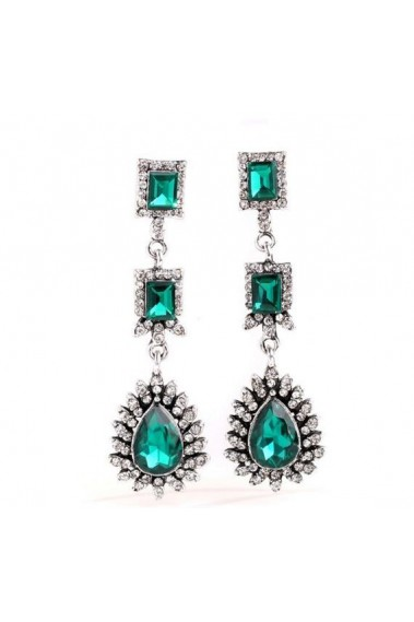 Best green statement earrings wedding - B048 #1