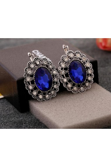 Stunning cheap blue sapphire earrings - B049 #1