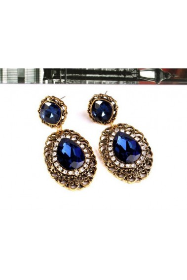 Beautiful cheap blue sapphire earrings - B054 #1