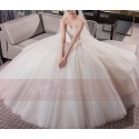 Tulle Strapless Wedding Dress With Lace Bodice - Ref M402 - 03