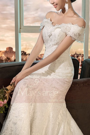 Mermaid Wedding Dress - robe mariage M399 blanc - M399 #1