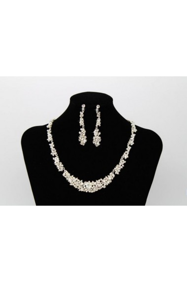 Sparkly necklace and stud earring set - E021 #1