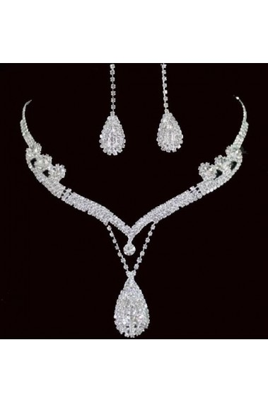 Trendy wedding necklace and earring set - E029 #1