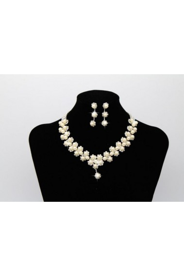 Champagne wedding jewelry necklace set - E040 #1