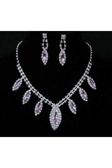 Crystal earrings and matching necklace - E052 #1