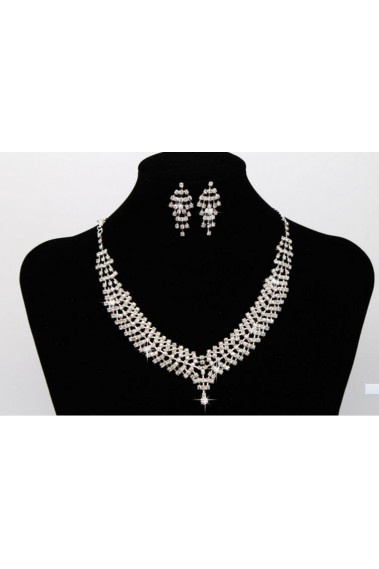 Elegant necklace and earrings set women - E063 #1