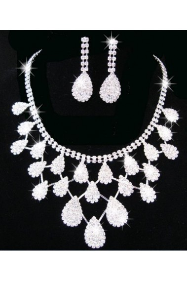 Luxury earrings and necklace design set - E066 #1