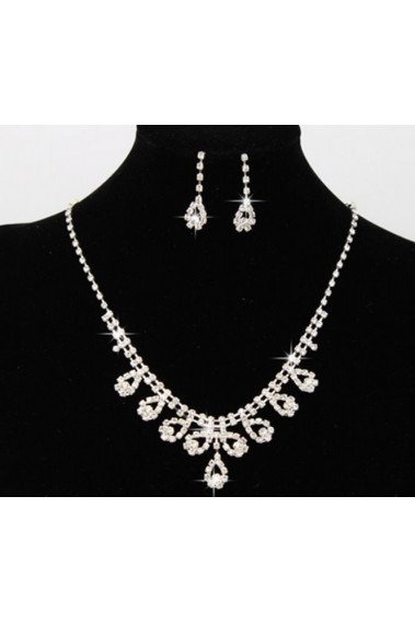 Fashion cheap white Bridal necklace set - E069 #1